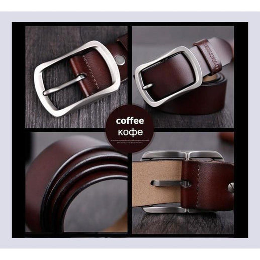 Genuine Leather Belts For Men-Belt-Online GMall-CY002 coffee-100cm-Online GMall