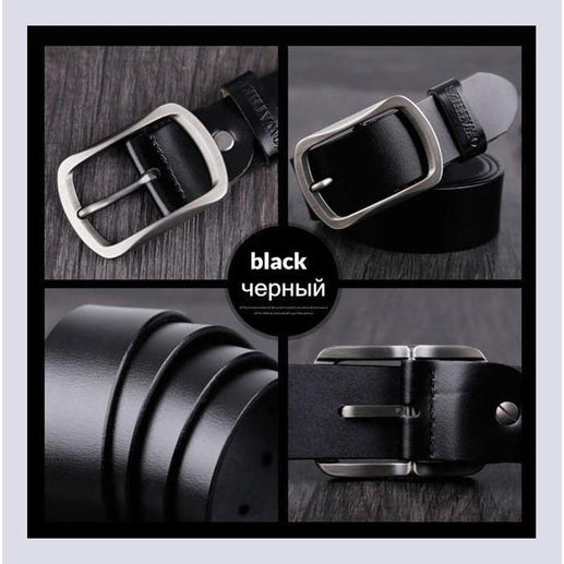 Genuine Leather Belts For Men-Belt-Online GMall-CY002 black-100cm-Online GMall