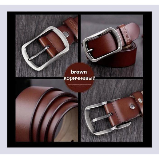 Genuine Leather Belts For Men-Belt-Online GMall-CY002 brown-100cm-Online GMall