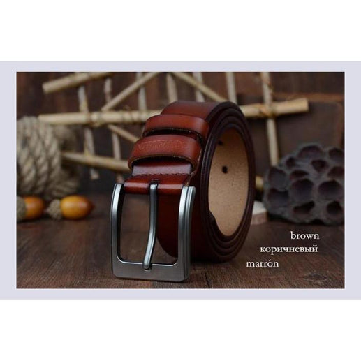 Genuine Leather Belts For Men-Belt-Online GMall-XF002 brown-100cm-Online GMall