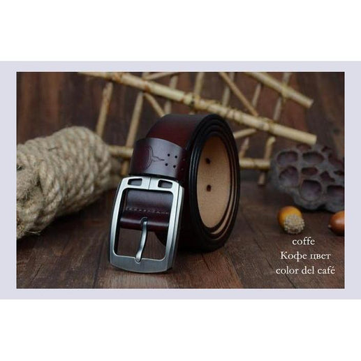 Genuine Leather Belts For Men-Belt-Online GMall-XF001 coffee-100cm-Online GMall