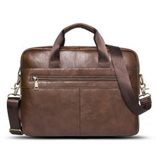 Genuine Leather Briefcase Bags For Men-Leather Bag-Online GMall-Brown-China-Online GMall