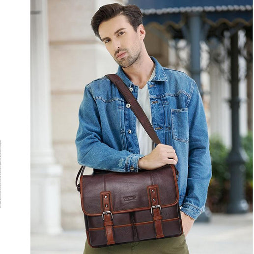 Genuine Leather Crossbody Bag For Men-Crossbody bag-Online GMall-coffee-China-Online GMall