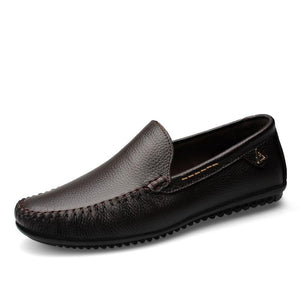 Genuine Leather Loafer-Loafers-Online GMall-Black-10-Online GMall