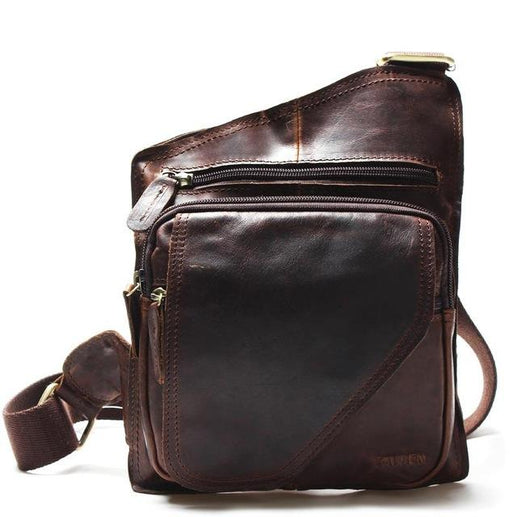 Genuine Leather Messenger Bags For Men-Messenger Bag-Online GMall-chocolate-Online GMall