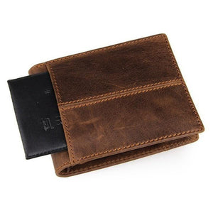Genuine Leather Wallet for Men-Wallet-Online GMall-black-Online GMall