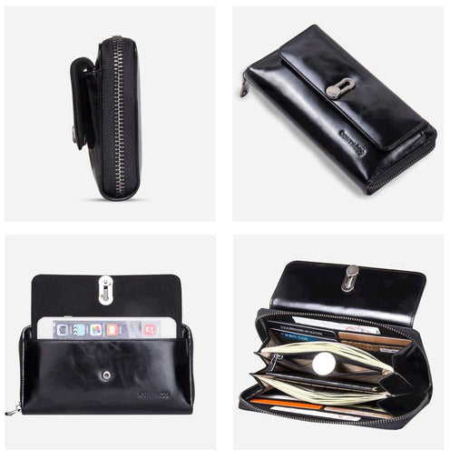 Genuine Leather Wallet for Women-Wallet-Online GMall-Black-China-Online GMall