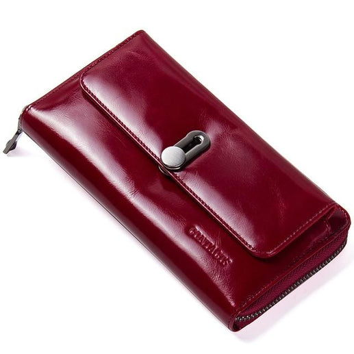 Genuine Leather Wallet for Women-Wallet-Online GMall-Red-China-Online GMall