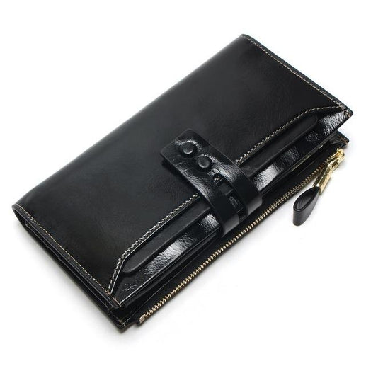 Genuine Leather Wallets for Women-Wallet-Online GMall-Black-Online GMall