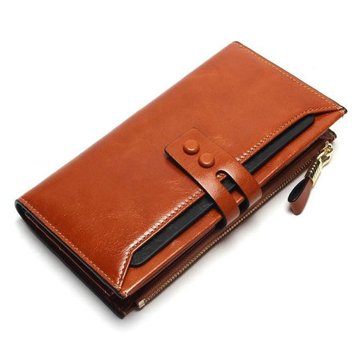 Genuine Leather Wallets for Women-Wallet-Online GMall-Brown-Online GMall