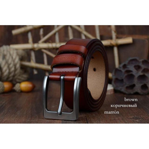 Leather belt for Men-Leather Belt-Online GMall-XF002 brown-100cm-Online GMall
