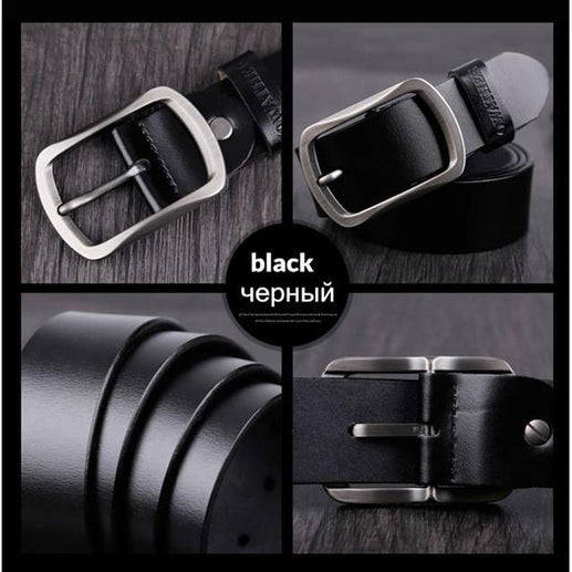 Leather belt for Men-Leather Belt-Online GMall-CY002 black-100cm-Online GMall