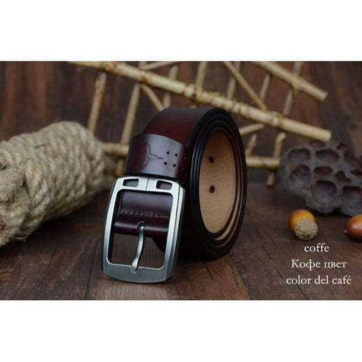 Leather belt for Men-Leather Belt-Online GMall-XF001 coffee-100cm-Online GMall