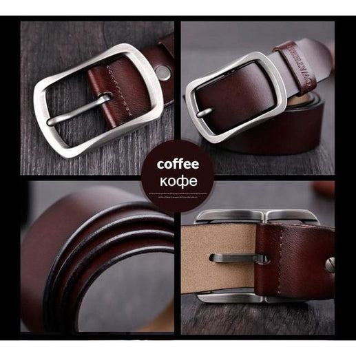 Leather belt for Men-Leather Belt-Online GMall-CY002 coffee-100cm-Online GMall
