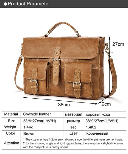 Leather Briefcase for Men-Briefcase-Online GMall-8927brown-China-Online GMall