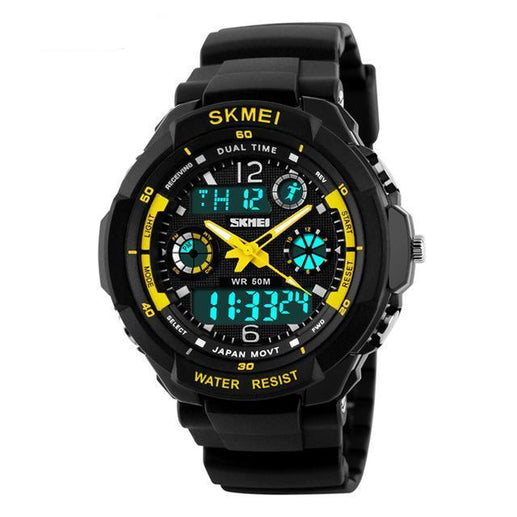 Men's Analogue and Digital Watches-Watches-Online GMall-Yellow-Online GMall