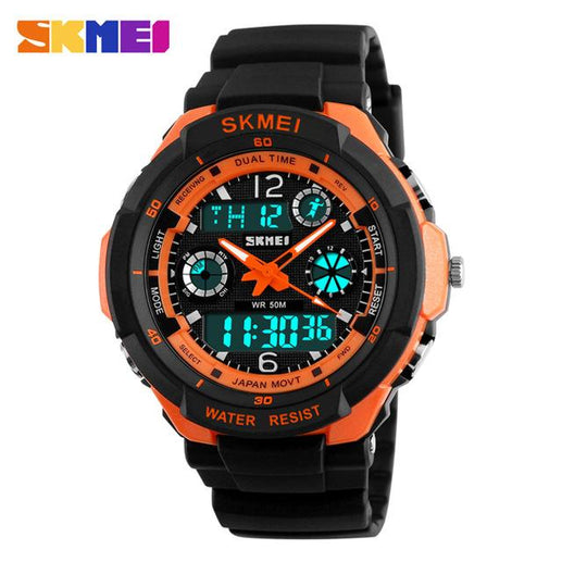 Men's Analogue and Digital Watches-Watches-Online GMall-Orange-Online GMall