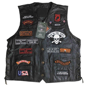 Men's Best Motorcycle Vest-Vest-Online GMall-0 Patches-L-Online GMall