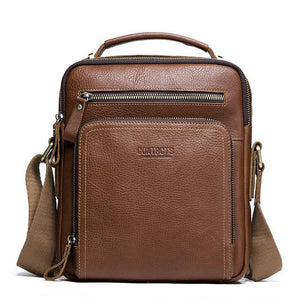 Men's Casual Messenger Genuine Leather Bags-Messenger Bag-Online GMall-brown-China-Online GMall