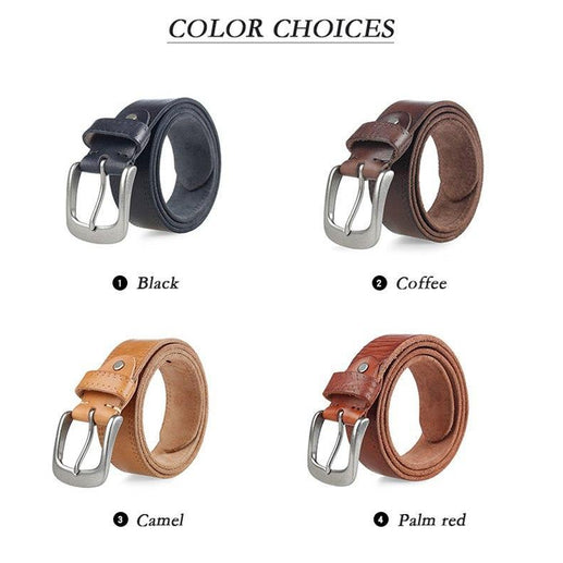 Men's Full Grain Leather Blet-Leather Belt-Online GMall-black-110cm-Online GMall