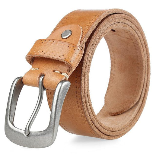 Men's Full Grain Leather Blet-Leather Belt-Online GMall-camel-110cm-Online GMall
