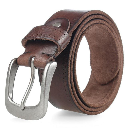 Men's Full Grain Leather Blet-Leather Belt-Online GMall-coffee-110cm-Online GMall