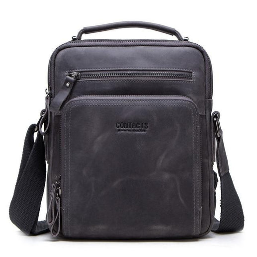 Men's Genuine leather Bag-Messenger Bag-Online GMall-gray-China-Online GMall