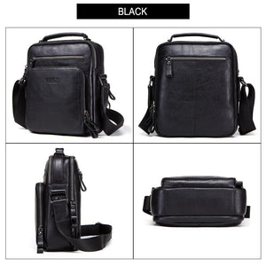 Men's Genuine leather Bag-Messenger Bag-Online GMall-black-China-Online GMall