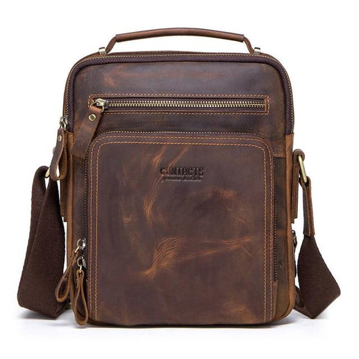 Men's Genuine leather Bag-Messenger Bag-Online GMall-coffee-China-Online GMall