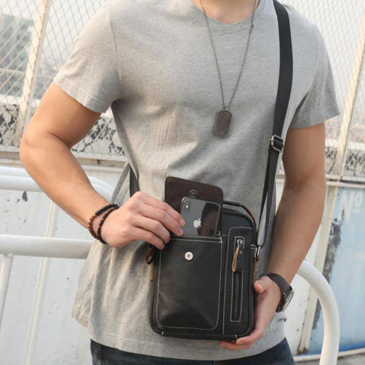 Men's Genuine Leather Bag-Genuine Leather Bag-Online GMall-A1-Online GMall