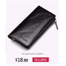 Men's Genuine Leather Black Wallet-Wallet-Online GMall-M1003-China-Online GMall
