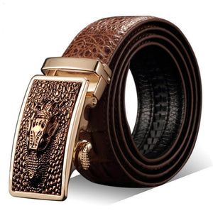Men's Genuine Leather Crocodile Belt-Men's Belt-Online GMall-3-120cm-Online GMall