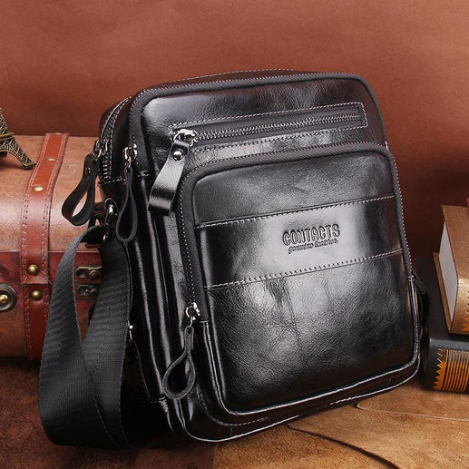 Men's Genuine Leather CrossBody Bag 2018-Messenger Bag-Online GMall-Black-China-Online GMall