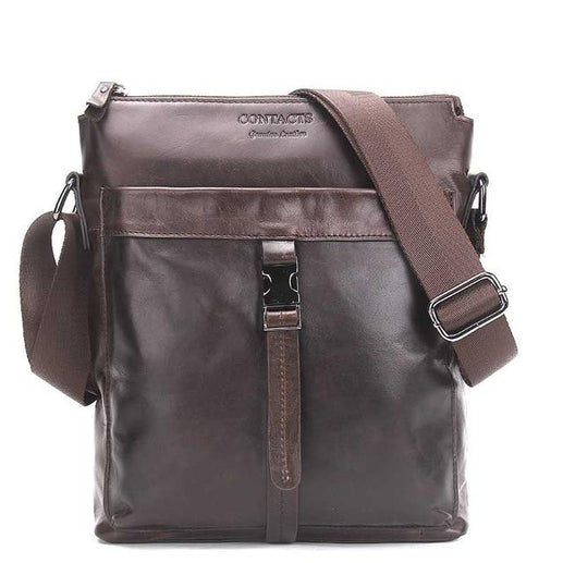 Men's Genuine Leather Crossbody Messenger Bag-Crossbodybag-Online GMall-Brown-China-(20cm<Max Length<30cm)-Online GMall