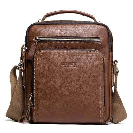 Men's Genuine Leather Hand Bag-Bag-Online GMall-brown-China-Online GMall