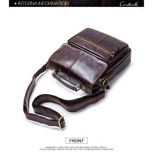 Men's Genuine Leather Messenger Bag-Messenger Bag-Online GMall-coffee-China-(20cm<Max Length<30cm)-Online GMall