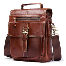 Men's Genuine Leather Messenger Bag-Genuine Leather Bag-Online GMall-Brown-China-Online GMall