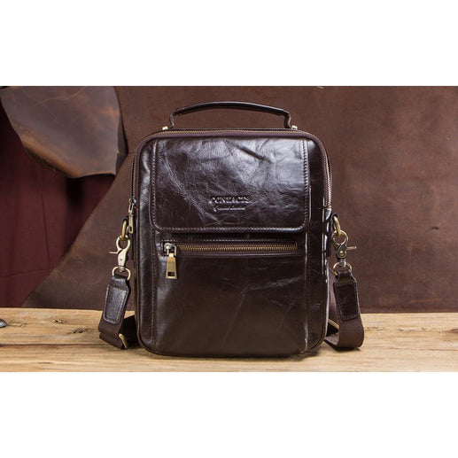 Men's Genuine Leather Messenger Bag-Messenger Bag-Online GMall-coffee-China-Online GMall