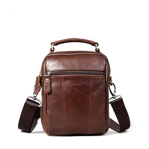 Men's Genuine Leather Messenger Bag-Leather Bag-Online GMall-Coffee-China-21cm X 15cm X 8cm-Online GMall