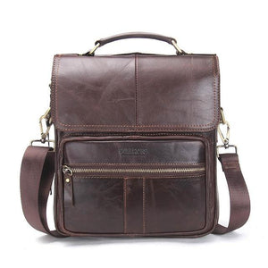 Men's Genuine Leather Shoulder Bag-Messenger Bag-Online GMall-coffee-China-(20cm<Max Length<30cm)-Online GMall