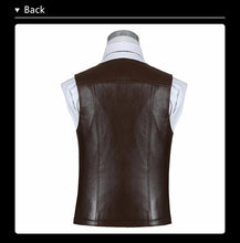 Men's Genuine Leather Vest-Vest-Online GMall-Black as pic-M-Online GMall