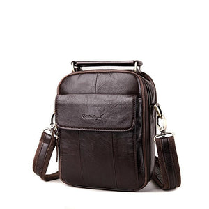 Men's Leather Messenger Bags-Messenger Bag-Online GMall-Coffee-China-24cm X 20cm X 6cm-Online GMall