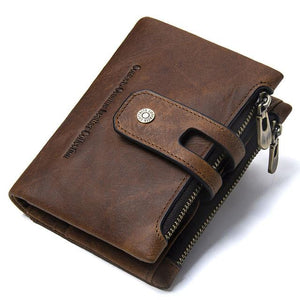 Mens Leather Wallet-Wallet-Online GMall-brown-China-Online GMall