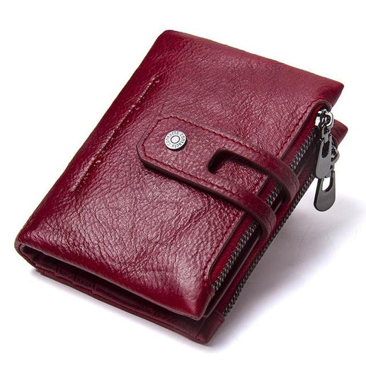 Mens Leather Wallet-Wallet-Online GMall-Red-China-Online GMall