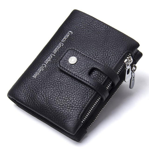 Mens Leather Wallet-Wallet-Online GMall-Black-China-Online GMall