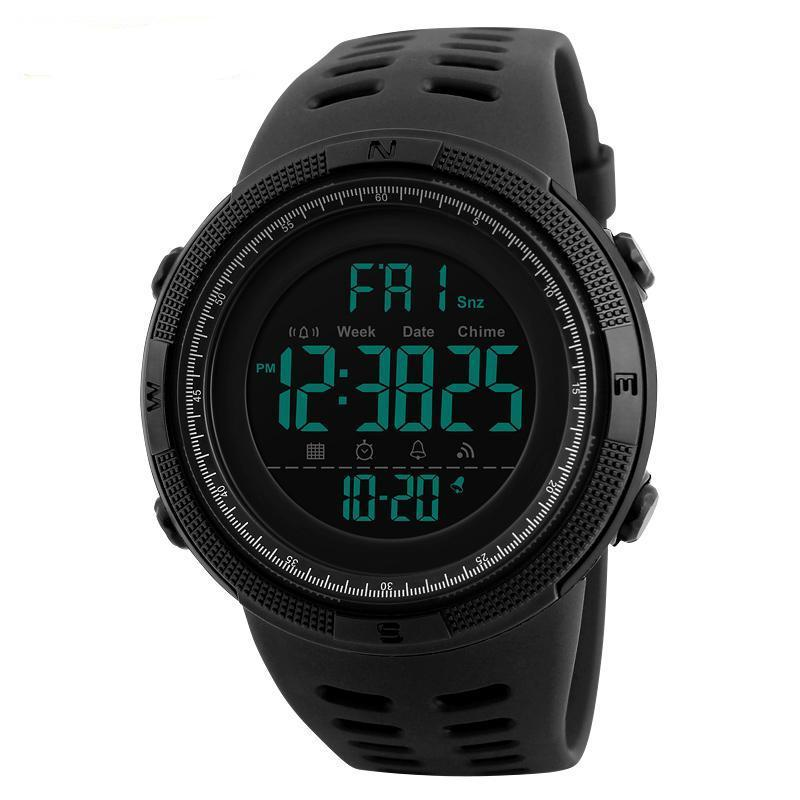 Men's LED Digital Sports Watches-Digital Watch-Online GMall-Black Brown-Russian Federation-Online GMall