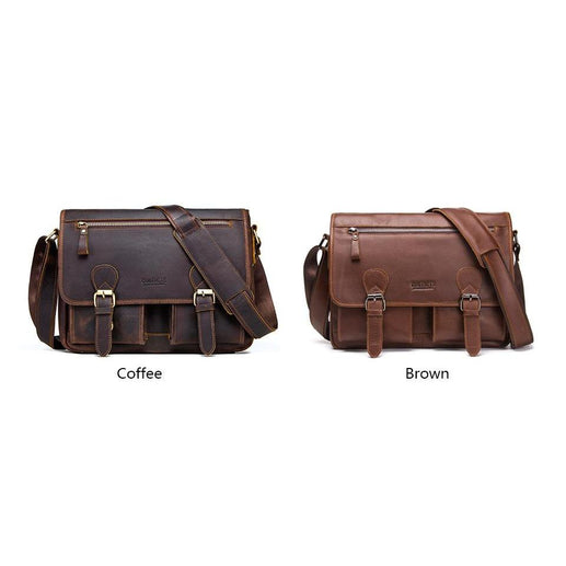Men's Messenger Bag For Laptop-Bag-Online GMall-Brown-China-Online GMall