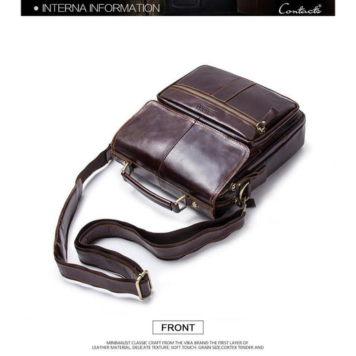 Men's Messenger Genuine Soft Leather Bags-Messenger Bag-Online GMall-coffee-China-Online GMall