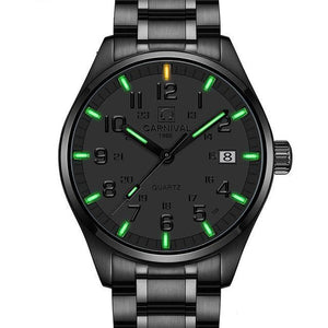 Men's Tritium Business Watch - Quartz-Tritium Watch-Online GMall-black green-Online GMall