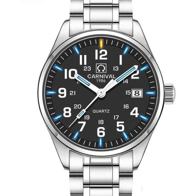 Men's Tritium Business Watch - Quartz-Tritium Watch-Online GMall-black silver blue-Online GMall